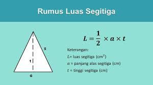 Cara mengitung luas segitiga dengan bahasa pemograman C++